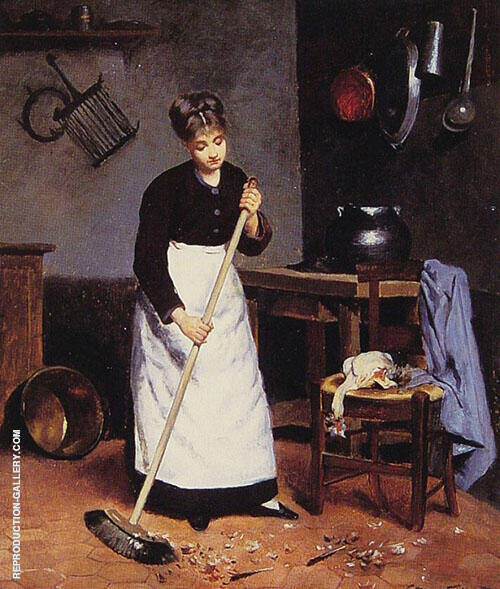 Sweeping The Feathers By Victor Gabriel Gilbert