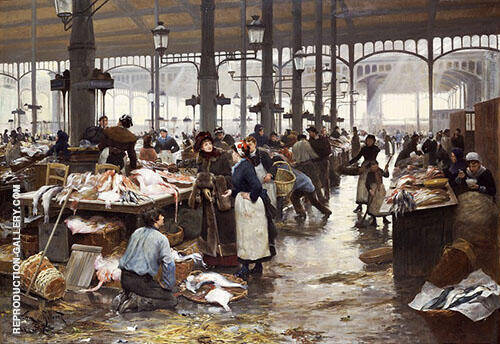 The Fish Hall at The Central Market 1881 By Victor Gabriel Gilbert