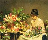 The Flower Seller By Victor Gabriel Gilbert