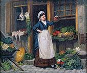 The Fruit Seller By Victor Gabriel Gilbert