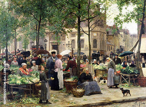 The Square in Front of Les Halles 1880 By Victor Gabriel Gilbert