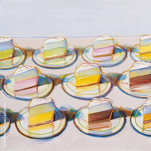 Meringues Painting By Wayne Thiebaud - Reproduction Gallery