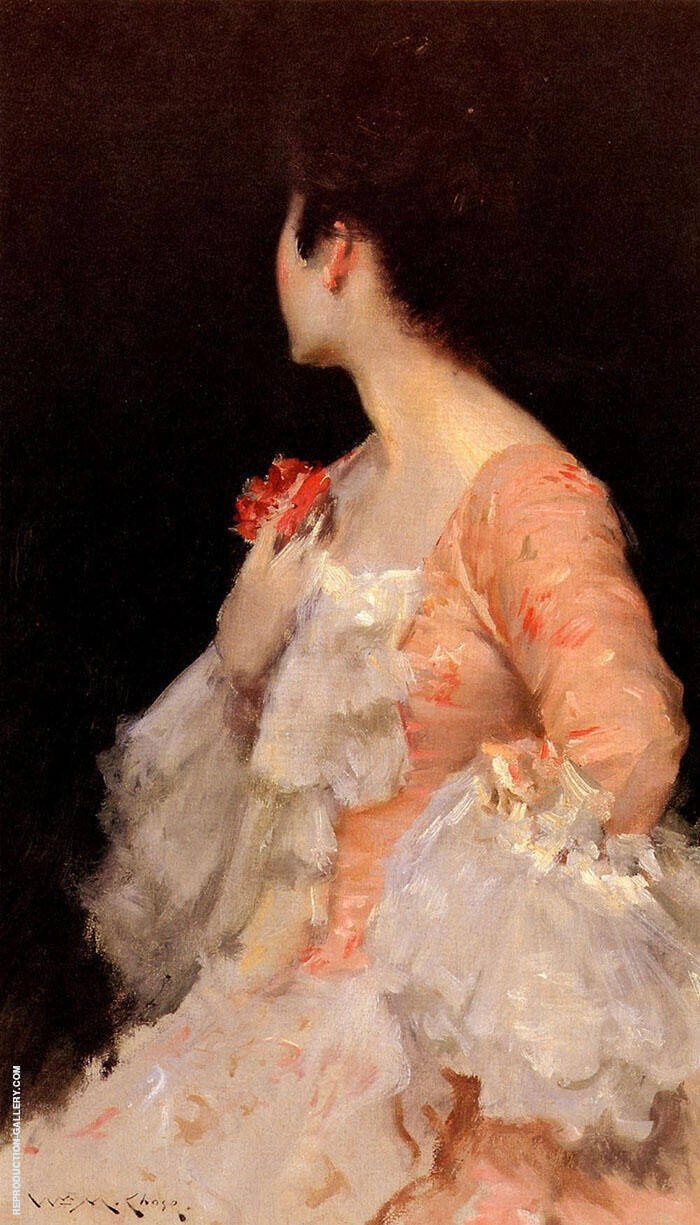 Portrait of a Lady Painting By William Merritt Chase