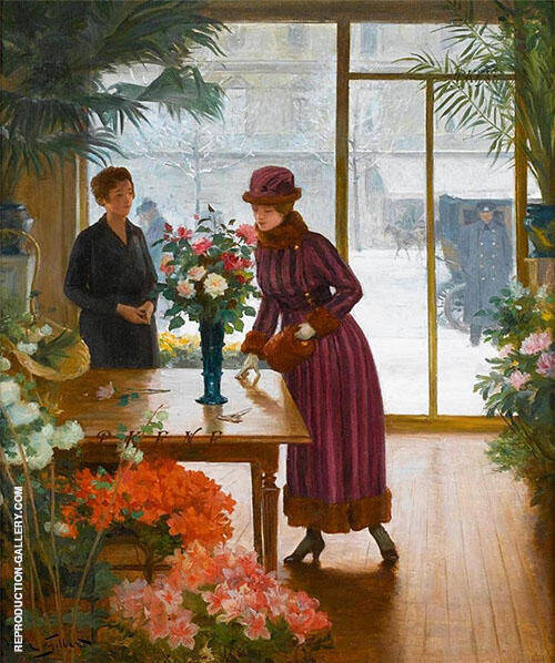 Buying Flowers By Victor Gabriel Gilbert