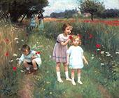 Children in a Poppy Field By Victor Gabriel Gilbert
