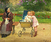 My New Brother By Victor Gabriel Gilbert