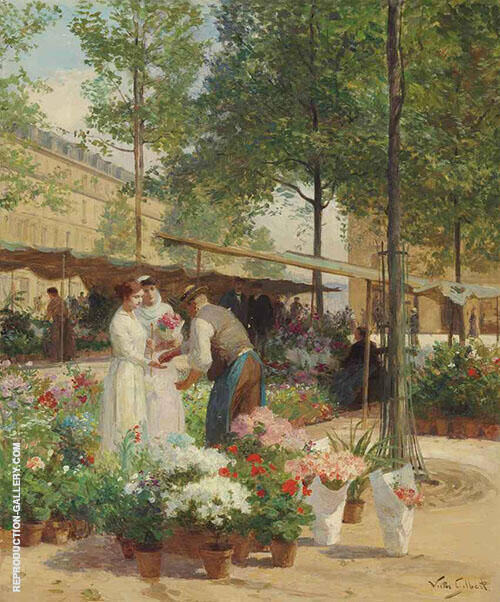 Paris Place de la Republique By Victor Gabriel Gilbert