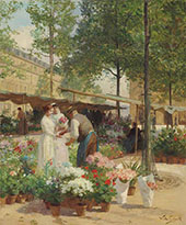 Paris Place de la Republique By Victor Gabriel Gilbert