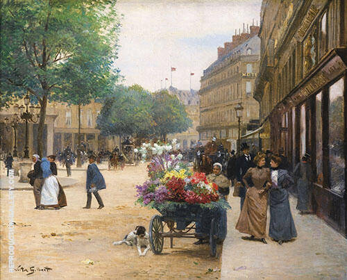 The Flower Seller II By Victor Gabriel Gilbert