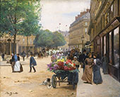 The Flower Seller II By Victor Gabriel Gilbert