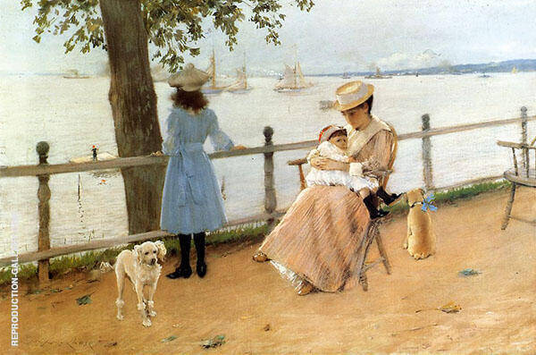 Afternoon by The Sea 1888 Painting By William Merritt Chase