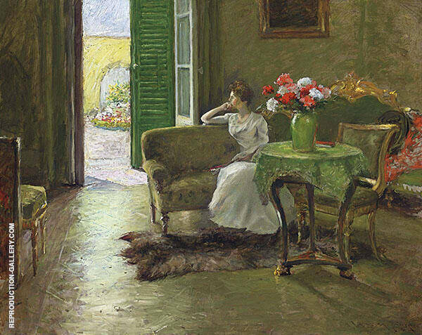 A Memory In The Italian Villa Painting By William Merritt Chase