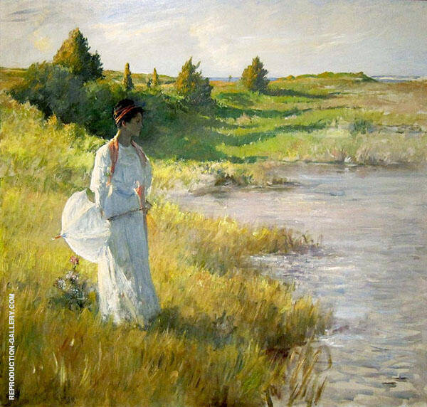 An Afternoon Stroll 1895 By William Merritt Chase