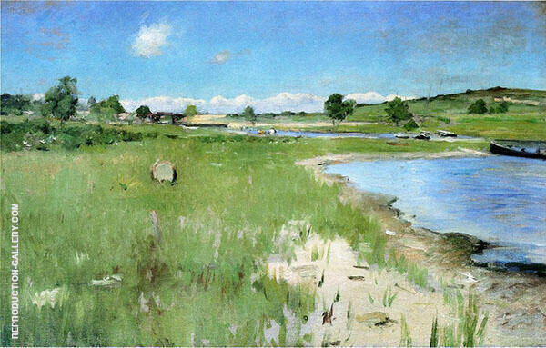 At Canoe Place Long Island 1900 By William Merritt Chase