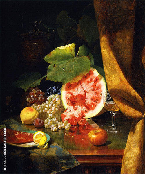 Autumn Fruit 1871 Painting By William Merritt Chase - Reproduction Gallery