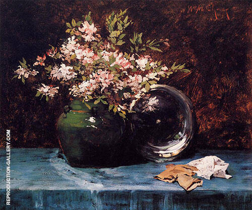 Azaleas c1882 By William Merritt Chase