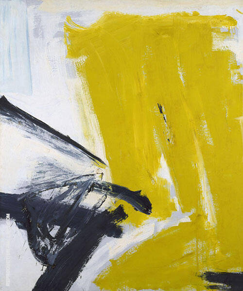 Zinc Yellow 1959 By Franz Kline