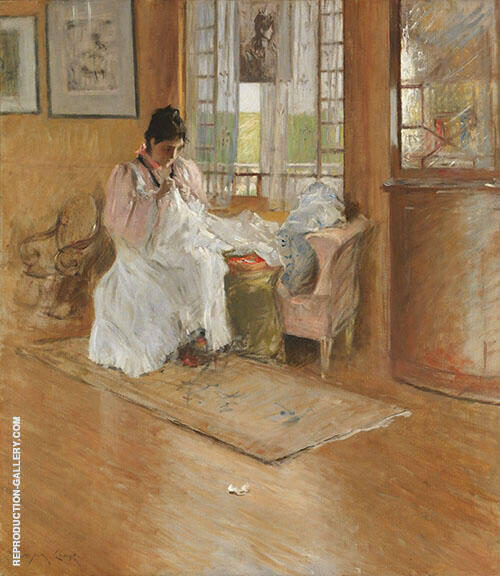 For The Little One c1896 Painting By William Merritt Chase