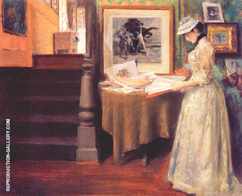 In The Studio c1892 Painting By William Merritt Chase