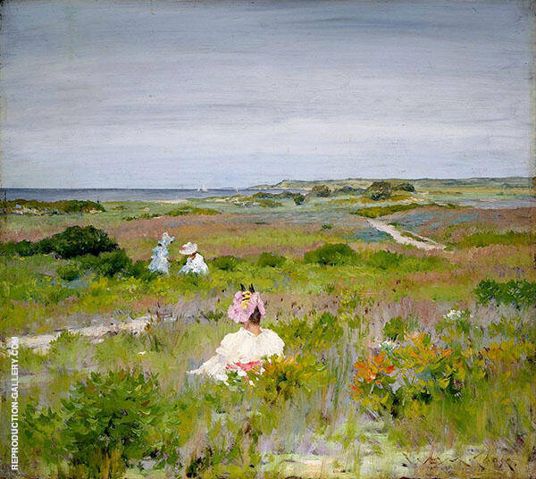 Landscape Shinnecock Long Island 1896 Painting By William Merritt Chase