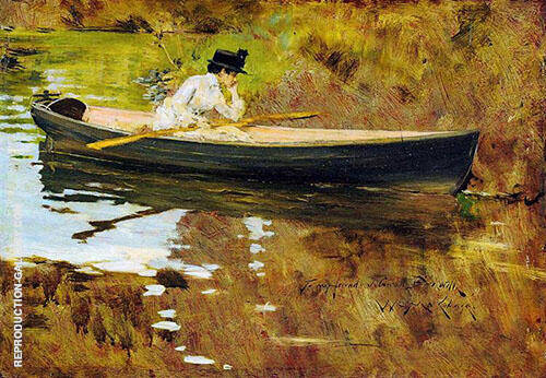 Mrs Chase in Prospect Park 1886 Painting By William Merritt Chase