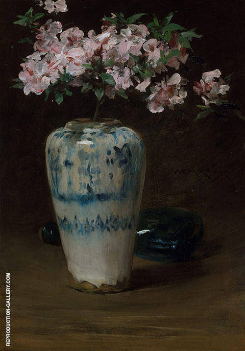 Pink Azalea Chinese Vase 1880 By William Merritt Chase