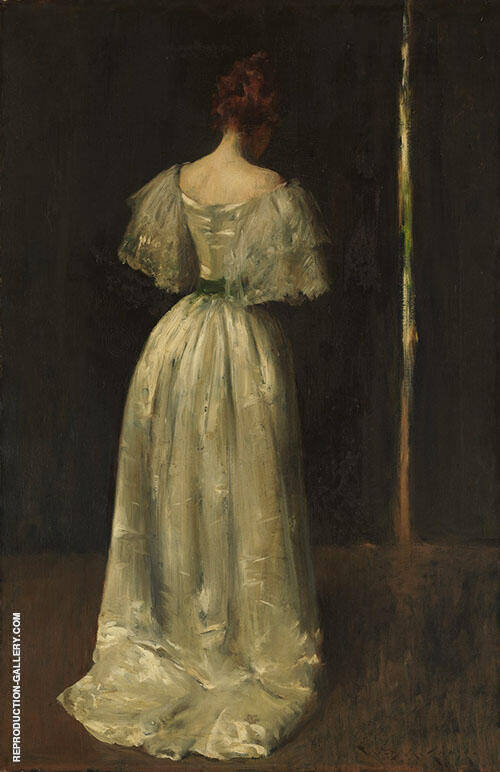 Seventeeth Century Lady c1895 Painting By William Merritt Chase