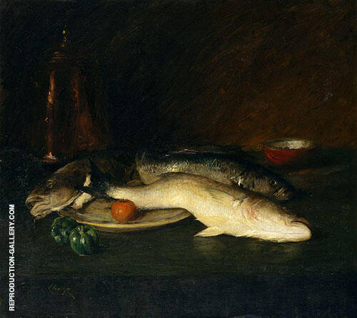 Still Life Fish 1908 Painting By William Merritt Chase