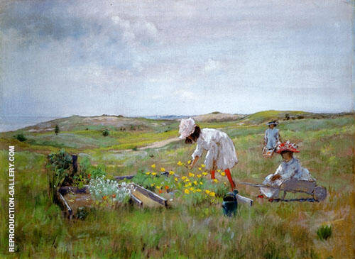 The Little Garden 1895 By William Merritt Chase