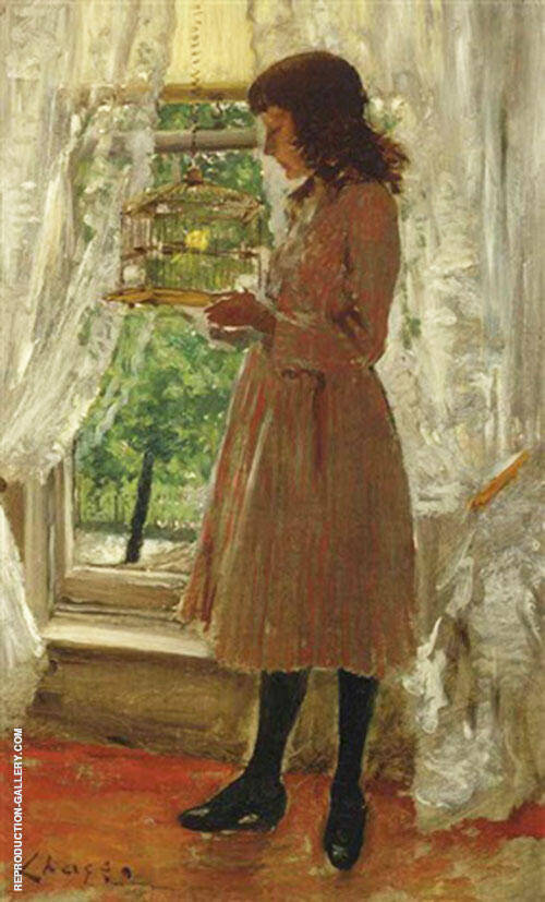 The Pet Canary 1886 By William Merritt Chase