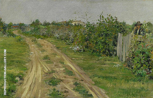 The Old Road Flatbush 1887 By William Merritt Chase