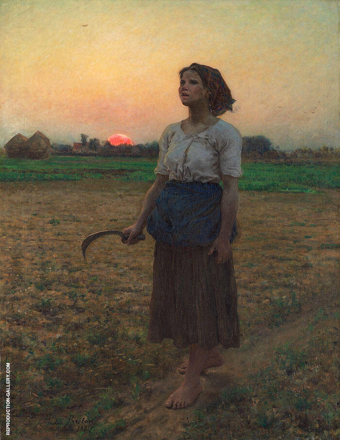 Song of the Lark 1884 By Jules Breton