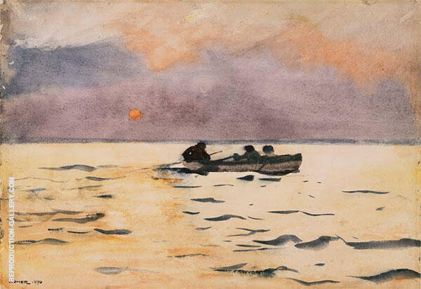Rowing Home 1890 By Winslow Homer