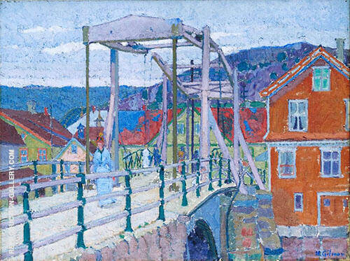 Canal Bridge Flekkefjord c1913 By Harold Gilman