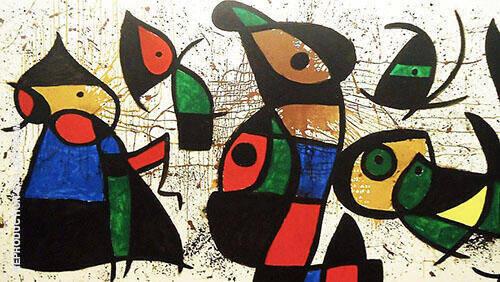 Personnage Oiseaux By Joan Miro