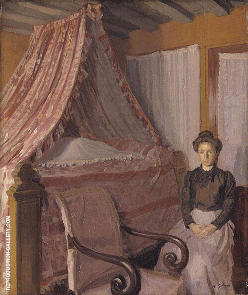 French Interior c1907 Painting By Harold Gilman - Reproduction Gallery