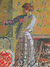Girl Dressing By Harold Gilman