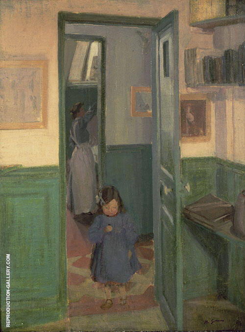 In Sickert's House at Neuville 1907 By Harold Gilman