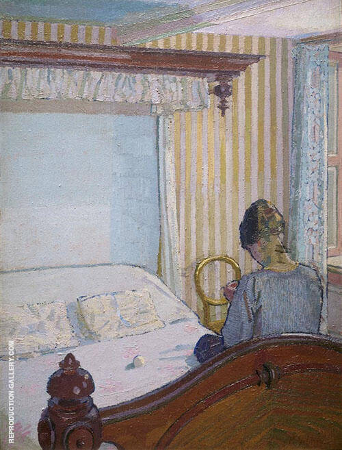 Interior 1917 Painting By Harold Gilman - Reproduction Gallery