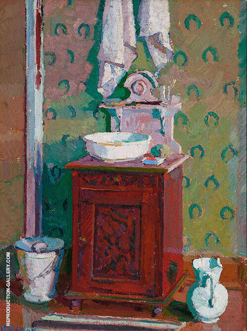 Interior with a Washstand Painting By Harold Gilman - Reproduction Gallery
