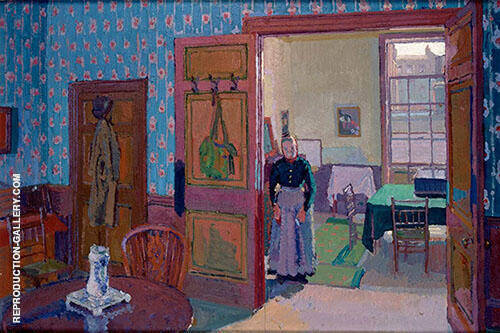 Interior with Mrs Mounter 1916 Painting By Harold Gilman