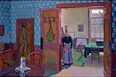 Interior with Mrs Mounter 1916 By Harold Gilman