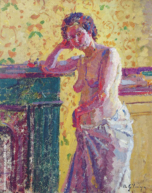 Interior with Nude Painting By Harold Gilman - Reproduction Gallery