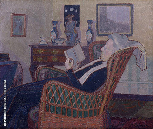 Interior with The Artist's Mother 1917 Painting By Harold Gilman