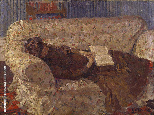 Lady on a Sofa c1910 Painting By Harold Gilman - Reproduction Gallery