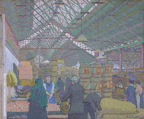 Leeds Market c1913 Painting By Harold Gilman - Reproduction Gallery