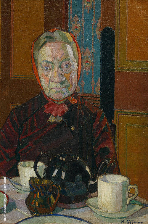 Mrs Mounter at The Breakfast Table 1917 By Harold Gilman
