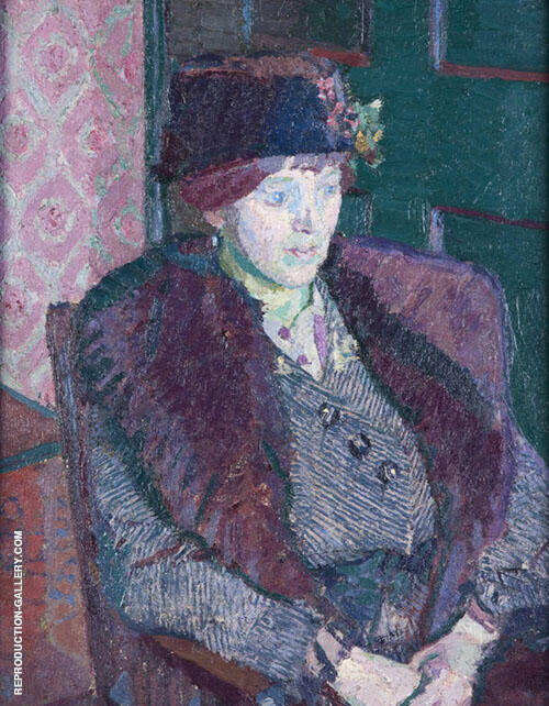 Mrs Victor Sly 1914 By Harold Gilman