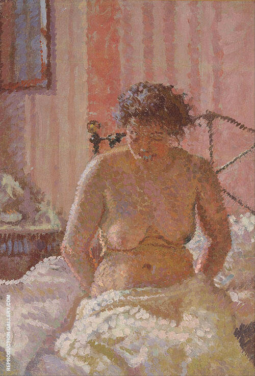 Nude in an Interior Painting By Harold Gilman - Reproduction Gallery