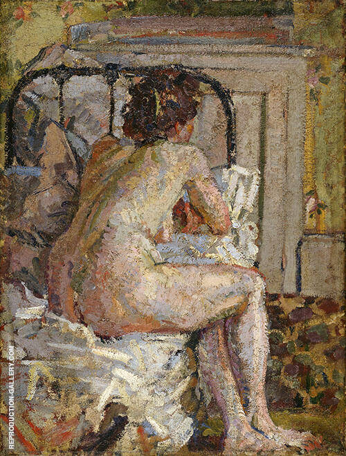 Nude on a Bed c1911 Painting By Harold Gilman - Reproduction Gallery